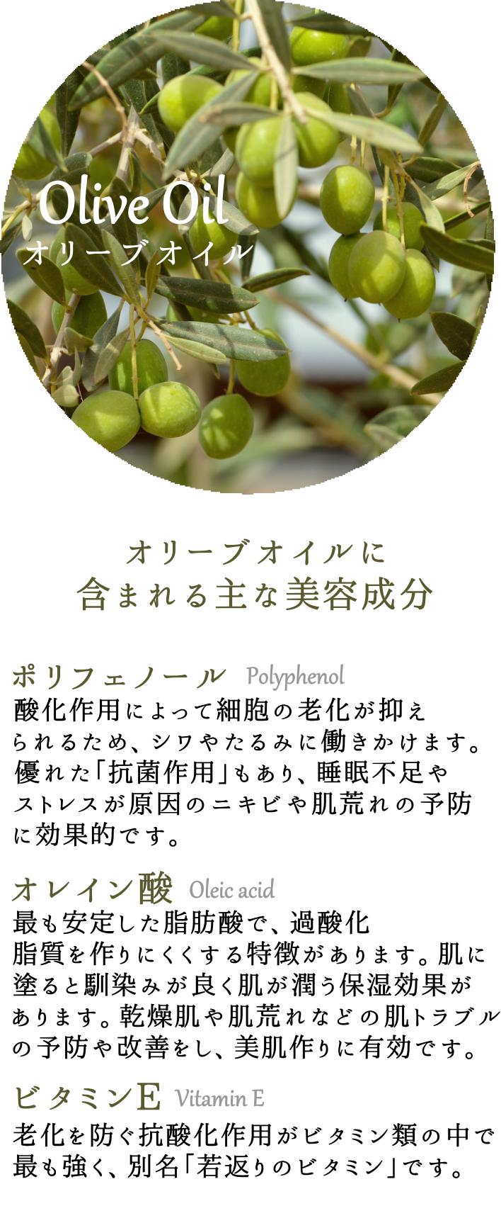 ナーブルスソープ – オリーブオイルに含まれる主な美容成分